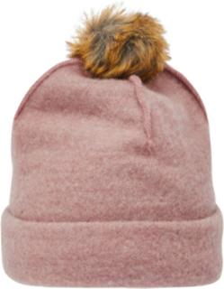 NAME IT Faux Fur Pom Pom Ull Lue Women Pink