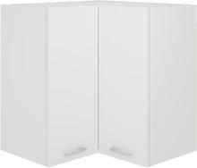 vidaXL Hengende hjørneskap hvit 57x57x60 cm sponplate