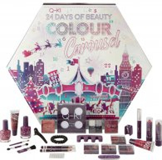 Q-KI 24 Days Of Beauty Colour Carousel Advent Calendar 26 Pieces