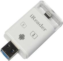 Muistikorttisovitin iPhonelle, iPadille, Androidille MicroSD / SD-korteille