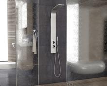 Elektra duschpanel rostfritt stål - Med sidodusch