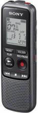 Sony ICD-PX240 Digital Diktafon Inspelningstid (max.) 1034 h Svart, Grå Bullerdämpning