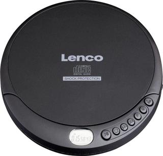 Lenco CD-200 Bärbar CD-spelare CD, CD-RW, MP3 Batteri-laddningsfunktion Svart