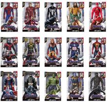 Marvel 30CM Sound and Light Action Figure Gift Avengers Iron Man Hulk Captain America Thor Thanos Batman Boy Gift