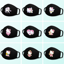 Hello kitty Cute Children's Face Masks Washable Cotton Anti-Dust Protective Sanrio mouth Mask for Boys Girl Toys