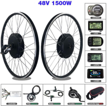 SOMEDAY Electric Bicycle Conversion Kit 48V 1500W Front BLDC Hub Motor 20/24/26/27.5/28/29 inch 700C Wheel For E-bike