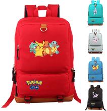 TAKARA TOMY POKEMON Backpack Game Peripheral Pokemon PIKACHU Student School Bag Children Christmas Gift
