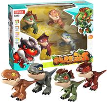 Jurassic Park Dinosaurs Finger Action Figure for Cute Dino Transform Robot for Children Boys Xmas Gifts Toys Tyrannosaurus Rex