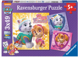 Ravensburger Puslespil 3 x 49 stykker Paw Patrol: Fortryllende hundepiger