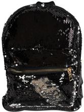 Børnerygsæk - Praktisk taske med pallietter - Sølv og sort