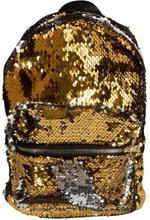 Børnerygsæk - Praktisk taske med pallietter - Guld og sølv