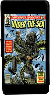 Iphone 7 / 8 under sea vintage serietidning fodral skal plån