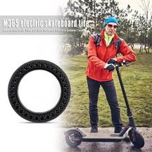 Anti-explosion Honeycomb Rubber Däck Fram bak för Xiaomi Mijia M365 Elektrisk Scooter Skateboard