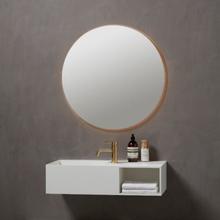 Loevschall Odense spegel med belysning bakom spegeln, Ø81 cm