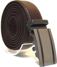 Läderbälte stripe brun 999 B