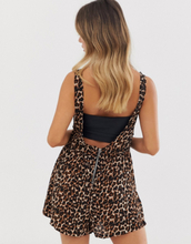 Brave Soul playsuit in leopard print-Multi