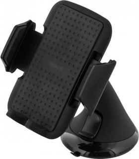 Mobilhållare för smartphone i bilen, justerbart fäste 53-83mm bred, Svart