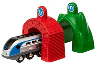 BRIO BRIO World - 33834 Smart Tech lok med action-tunnlar