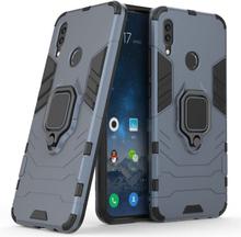 Huawei P Smart 2019 Kul Guard Hybrid Etui Med Handsfree-Støtte - Gråblå