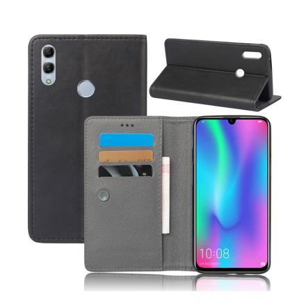 Crazy Horse Huawei P Smart 2019 leather flip case - Black