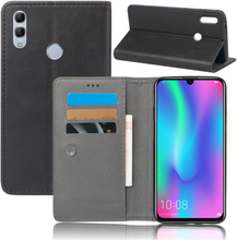 Crazy Horse Huawei P Smart 2019 leather flip case - Black