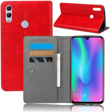 Crazy Horse Huawei P Smart 2019 leather flip case - Red