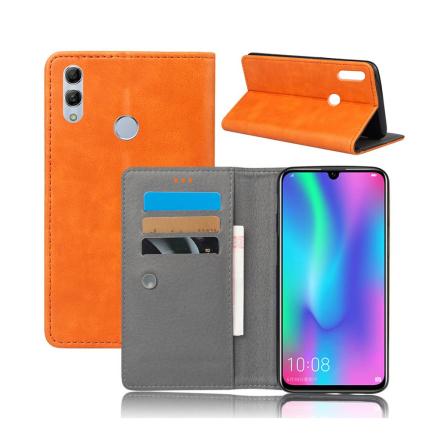 Crazy Horse Huawei P Smart 2019 leather flip case - Orange