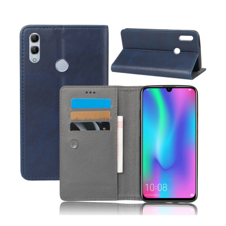 Crazy Horse Huawei P Smart 2019 leather flip case - Blue