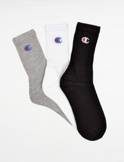 Champion 3P Crew Socks Multi Strumpor/Sockor till Unisex