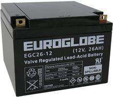 12V EGC26-12 (T3) AGM Batteri 26Ah 167 x 175 x 125 mm Euroglobe
