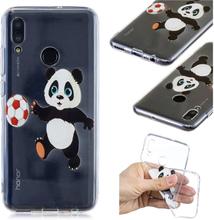 Huawei P Smart 2019 Etui Med Mønster - Panda Som Leker Med Ball