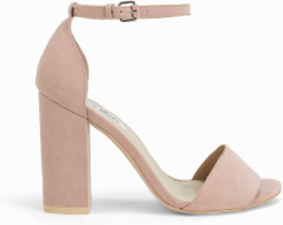NLY Shoes Block Heel Sandal Dusty Pink
