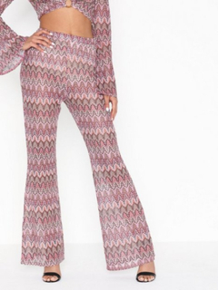 Missguided Print Flared Trousers