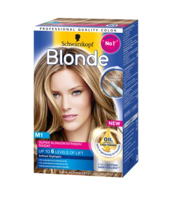 Schwarzkopf Poly Blonde M1 Super Slingor