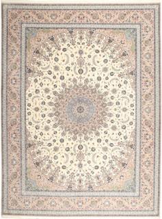 Isfahan silkesvarp matta 315x420 Persisk Matta