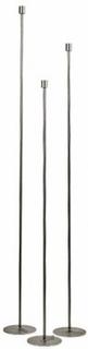 Golvljusstake, obehandlat stål (135 cm)
