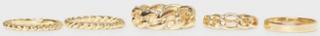 Vero Moda Vmakif Rings 5-Pack Ringar Guld