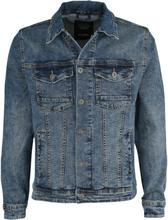 Shine Original - Deep Blue Slim Fit Denim Jacket -Dongerijakke - blå