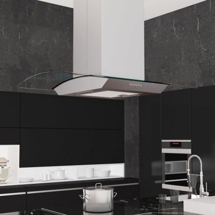vidaXL ø-emhætte 90 cm rustfrit stål 756 m³/t. LED