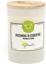 Miljövänligt Doftljus Patchouli & Cederträ, Litet (ca. 115 g)