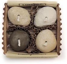 Miljövänlig Ljusbringare, 4-pack, Stone
