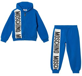 Moschino Kid-Teen Blue Stripe Logo Tracksuit 14 years