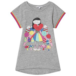 Little Marc Jacobs Miss Marc and Sweeties Print Jersey Klänning Grey Marl 2 years