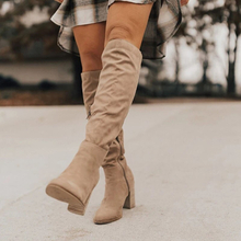 Women Knee-High Boots Lace Up Sexy High Heels Women Shoes Lace Up Winter Boots Warm Size 35-43 2020 Fashion Boots