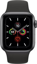Apple Watch Series 5 GPS - 44mm Space Grau Aluminiumgehäuse mit Schwarz Sportarmband