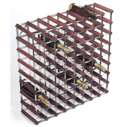 RTA Vinställ 72 flaskor brunt trä