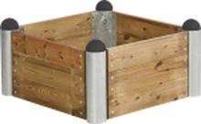 Plus Odlingslåda Pipe 80x80-Träfärgat