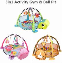 3 In 1 Mat For Children Turtle Educational Mat Crawling Blanket Infant Play Rug Kids Activity Mat Gym Baby Tapete Infantil