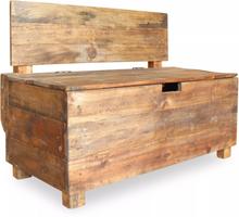 vidaXL Bänk massivt återvunnet trä 86x40x60 cm