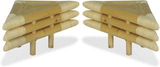 vidaXL Sängbord 2 st 60x60x40 cm bambu naturlig